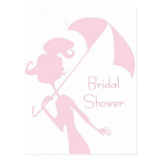 KRW Pink Bridal Shower Custom Invitation Postcard