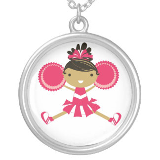 KRW Pink Cheerleader Birthday Party Necklace