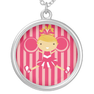 KRW Pink Cheerleader Birthday Party Necklace