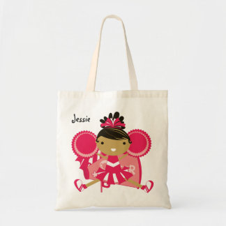 KRW Pink Cheerleader Custom Party Tote Bag