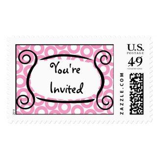KRW Pink Circle Custom Wedding Stamp
