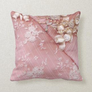 KRW Pink Lace Wedding Pillow
