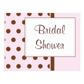 KRW Pink Polka Dots Custom Shower Invitation Postcard
