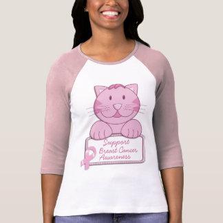 KRW Pink Ribbon Cat - Support T-Shirt