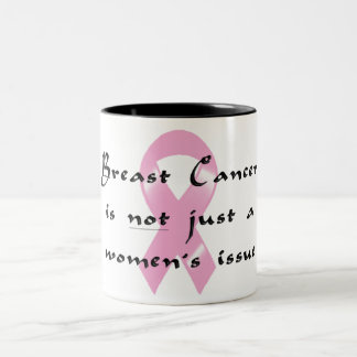KRW Pink Ribbon - Not Just Women's Issue Mugs