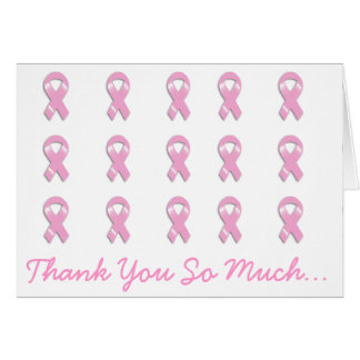 KRW Pink Ribbon - Thank You So Much Greeting Card