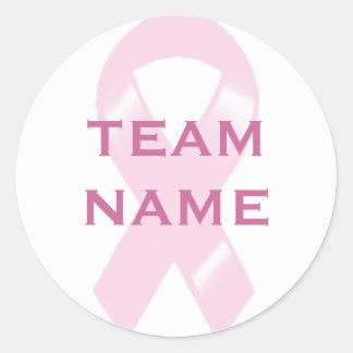 KRW Pink Ribbon Walk Custom Team Classic Round Sticker