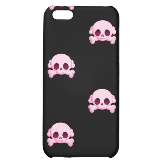 KRW Pink Skull and Crossbones i iPhone 5C Cover