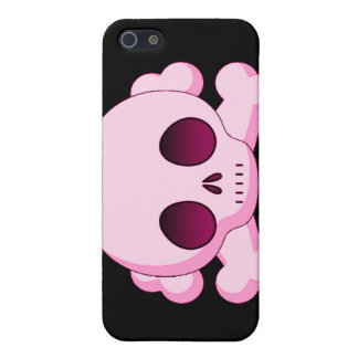 KRW Pink Skull and Crossbones i iPhone SE/5/5s Cover