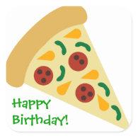 KRW Pizza Slice Birthday Party Sticker