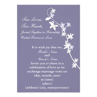 KRW Plum Custom Wedding Invitation