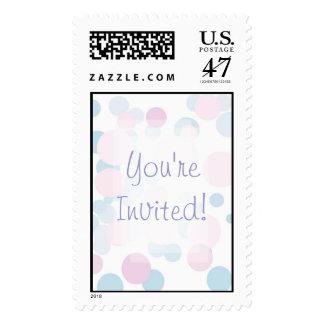 KRW Polka Dots Bridal Shower Stamp