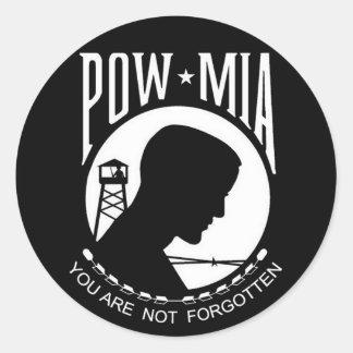 KRW POW-MIA le no olvidan Pegatina Redonda