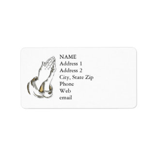 KRW Praying Hands Custom Address Labels