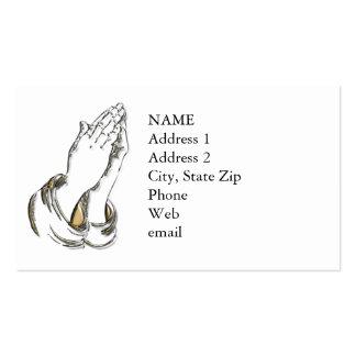 KRW Praying Hands Custom Business Card