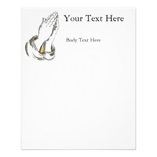 KRW Praying Hands Small Flyer Template