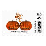 KRW Pumpkin Love Halloween Wedding Stamp