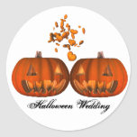 KRW Pumpkin Love Halloween Wedding Stickers
