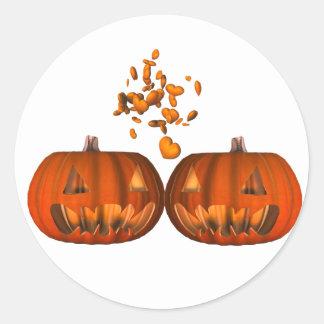 KRW Pumpkin Love Romantic Halloween Sticker