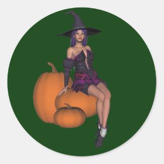KRW Pumpkin Witch Halloween Sticker