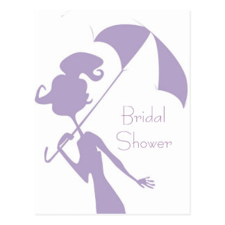 KRW Purple Bridal Shower Custom Invitation Postcard
