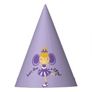 KRW Purple Cheerleader Birthday Party Hat