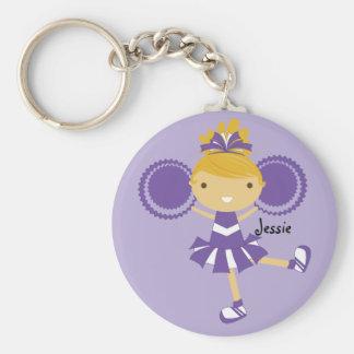 KRW Purple Cheerleader Party Custom Keychain