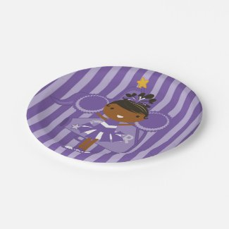 KRW Purple Cheerleader Party Paper Plates