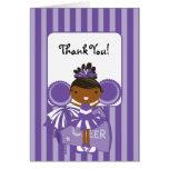 KRW Purple Cheerleader Thank You Note Card