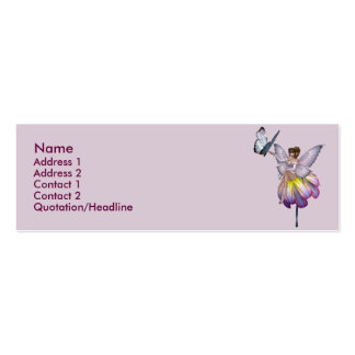 KRW Purple Flower Fairy Profile Card Double-Sided Mini Business Cards (Pack Of 20)