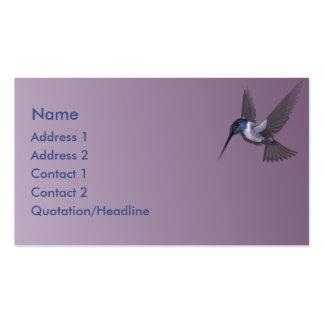 KRW Purple Hummingbird Custom Business Card