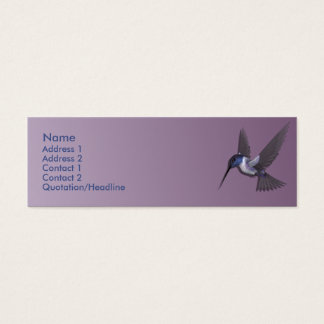 KRW Purple Hummingbird Custom Profile Card