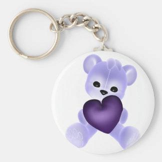 KRW Purple Teddy Keychain