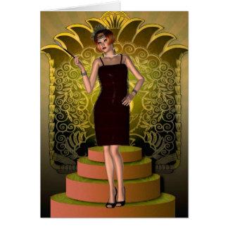 KRW Putting on the Ritz Deco Flapper II Greeting Card