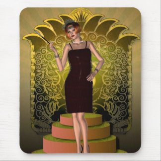 KRW Putting on the Ritz Deco Flapper II Mouse Pad