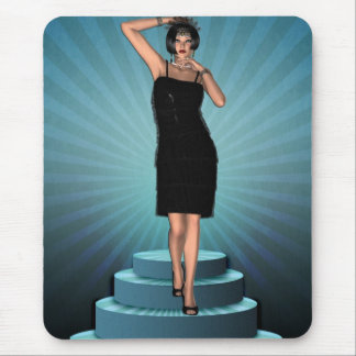 KRW Putting on the Ritz Deco Flapper Mouse Pad