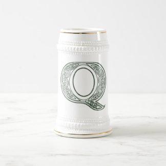 KRW - Q - Celtic Monogrammed Stein Coffee Mug
