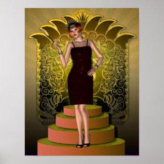 KRW que pone en la aleta de Ritz Deco II Posters