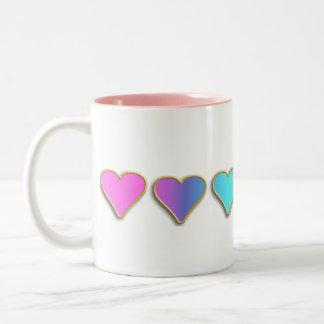 KRW Rainbow Hearts Coffee Mugs