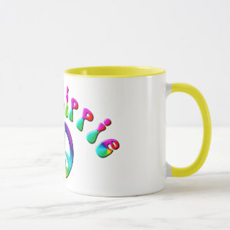 KRW Rainbow Old Hippie Peace Sign Mug