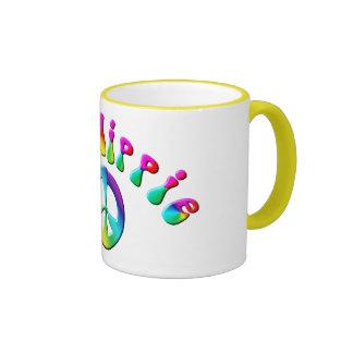 KRW Rainbow Old Hippie Peace Sign Coffee Mug