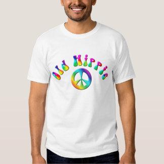 KRW Rainbow Old Hippie Peace Sign T Shirt