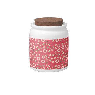 KRW Raspberry Lime Floral Jar Candy Dish