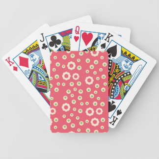KRW Raspberry Lime Floral Playing Card Deck Bicycle Playing Cards