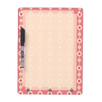KRW Raspberry Lime Floral Stripe Key Holder Msg Bd Dry Erase Board