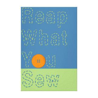 KRW Reap What You Sew Fashion Humor Art Canvas Print