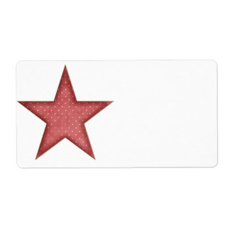 KRW Red Christmas Star Large Blank Label Shipping Label