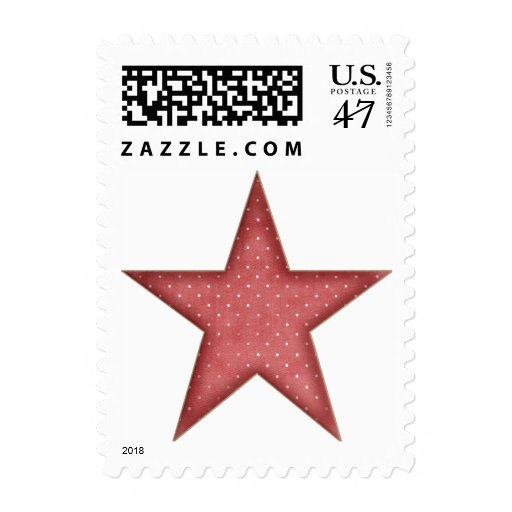 KRW Red Christmas Star Stamp
