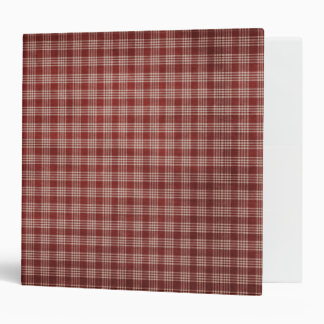 KRW Red Country Check Binder