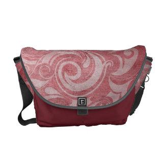 KRW Red Gothic Vintage Swirl Messenger Bag